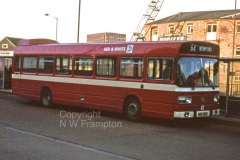 Some of the 1976 deliveries were also swapped between R&W and WW - this is Western Welsh N5176 working for Red & White at Newport Bus Station, on the 64 service to Chepstow via Caldicot.